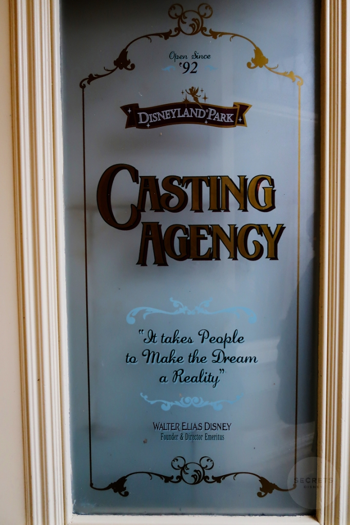 """Open Since '92  Disneyland Park  Casting Agency  """"It takes People to Make the Dream a Reality""""  Walter Elias Disney  Founder & Director Emeritus"""